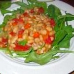 A Peek at My Garden and White Bean Salad
