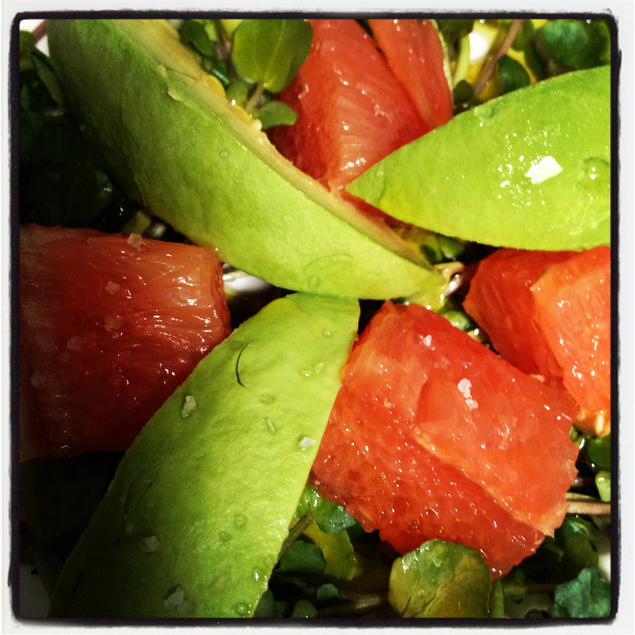 Watercress, Grapefruit, Avocado