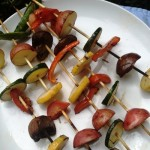 Farmer's Veggie Skewers with Rosemary
