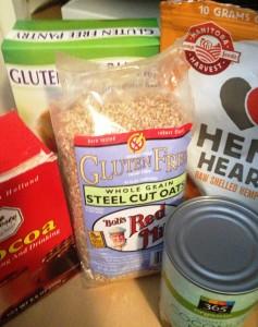 GF oats, hemp, coconut milk, raw cocoa...