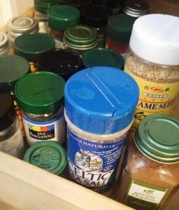 Sea salt, ground pepper, spices, sesame seeds...