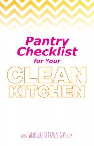 Clean Kitchen Pantry Checklist