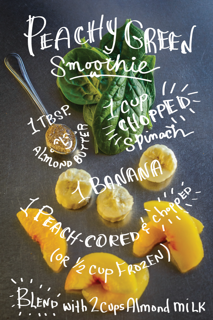 Peachy Green Smoothie Day 1