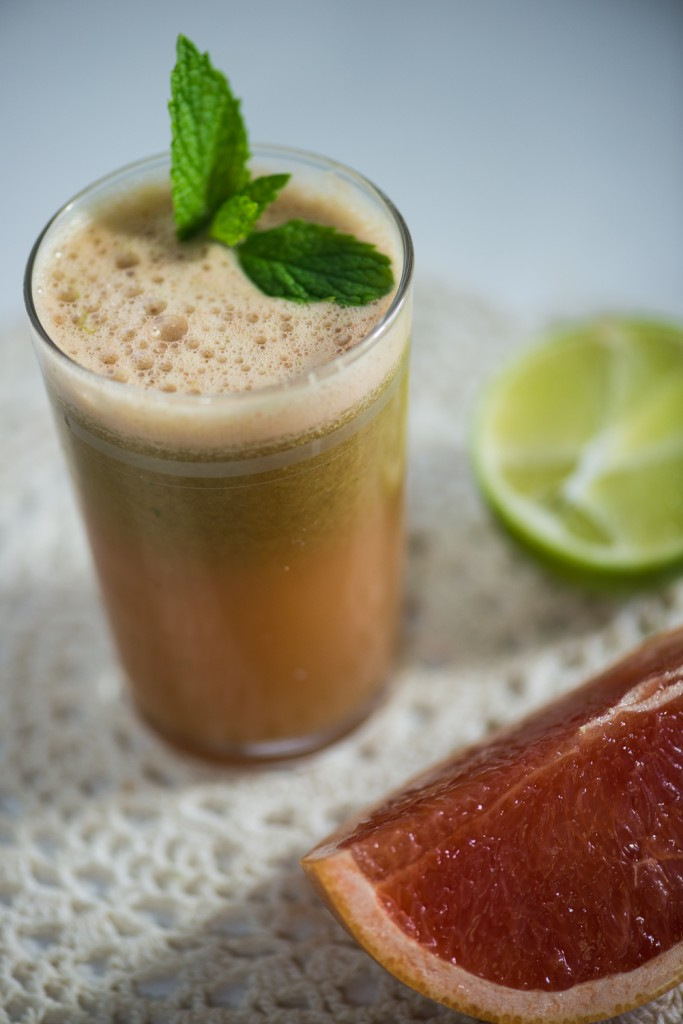 Grapefruit, Mint and Lime Juice