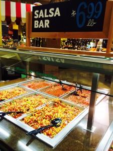 Whole Foods salsa bar