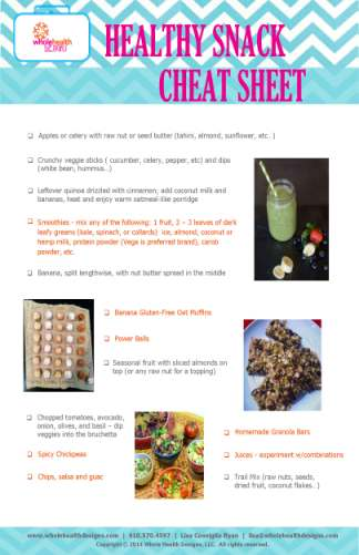 healthy snack cheat sheet