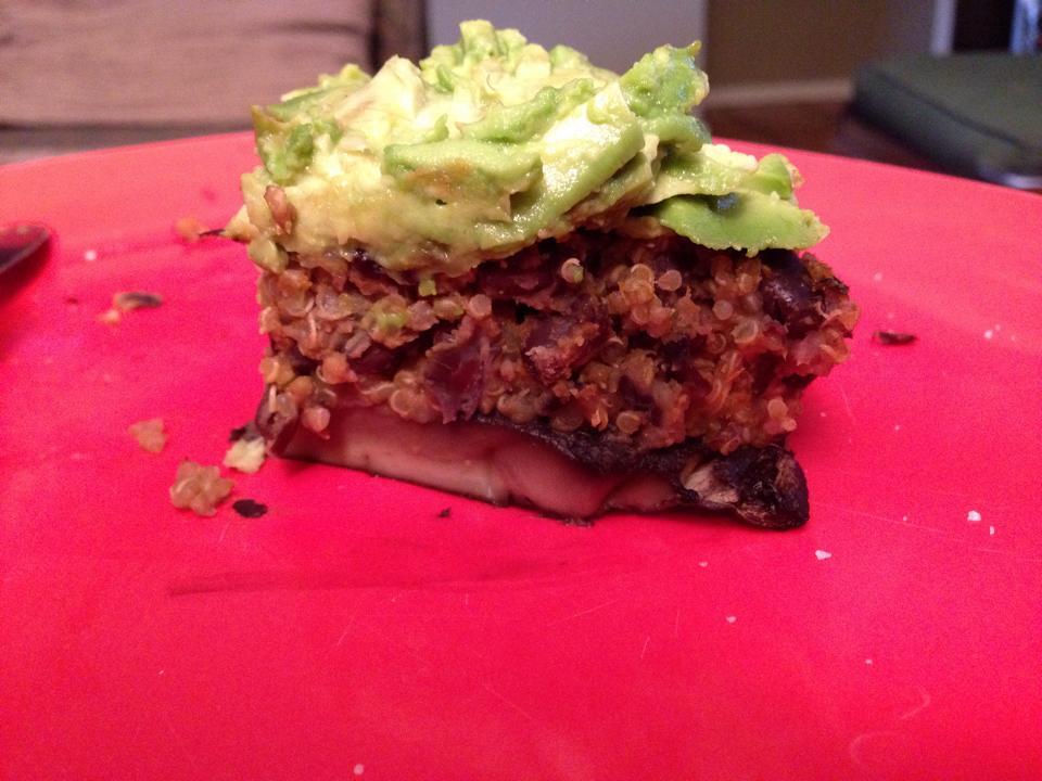 Paige's Mushroom Quinoa Burger