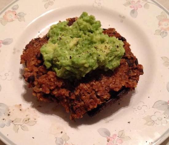 Suzanne's Mushroom Quinoa Burger