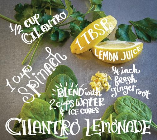 Cilantro Lemonade Smoothie