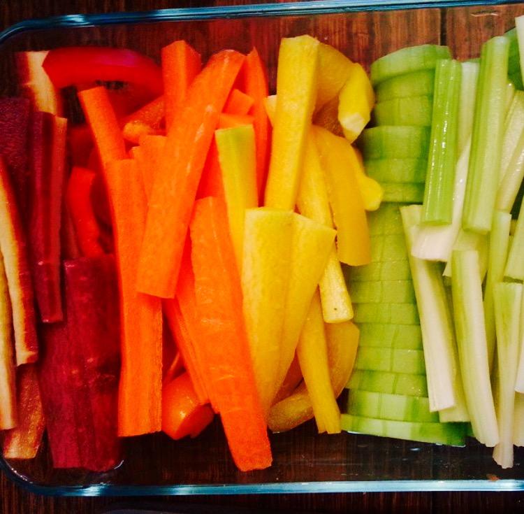 Heidi's rainbow veggies