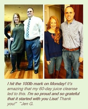 Jen G Juicing Lost 100lbs