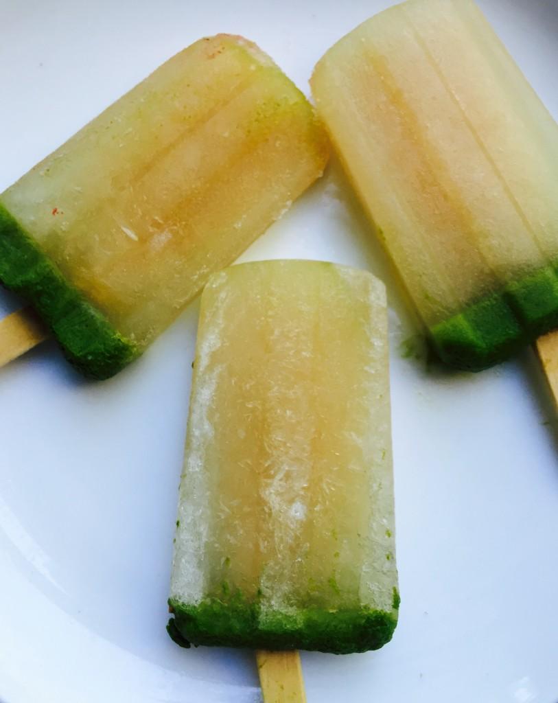 Green juice frozen pop