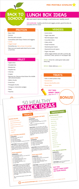 Lunch Box and 50 Healthy Snack Ideas