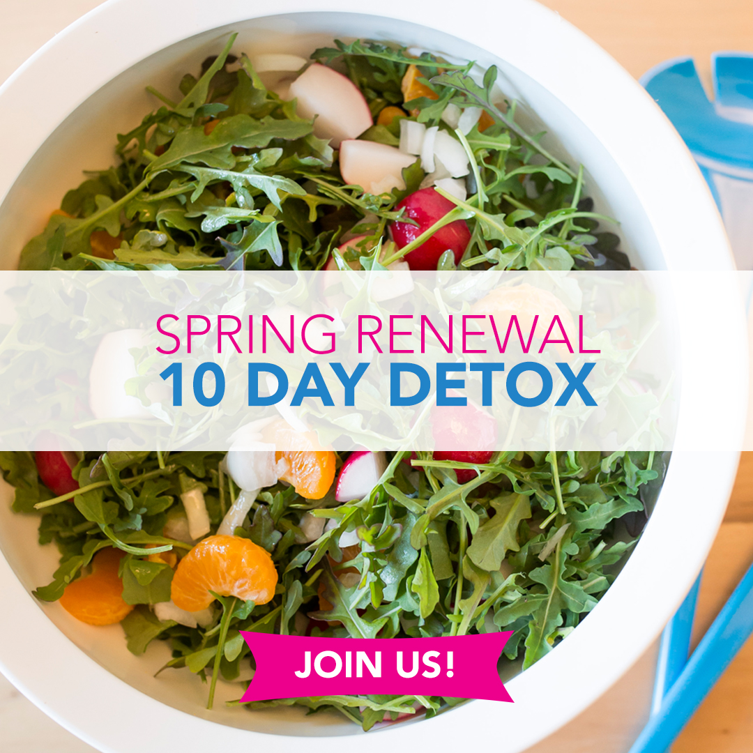Lose weight, get energized and feel amazing with Spring Renewal 10 Day Detox. Menu, shopping list, and support to help you along the way.